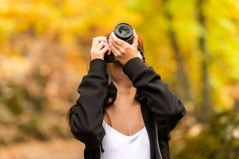 Woman with cam