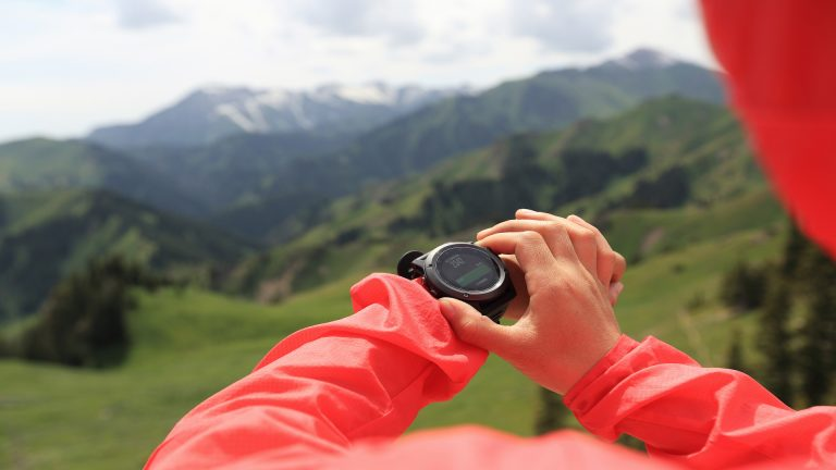 Altimeter and woman