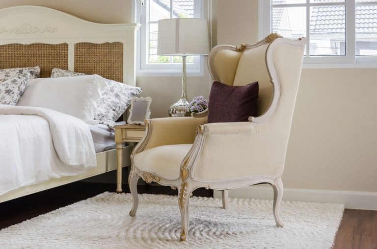 carpet with pillow in luxury bedroom