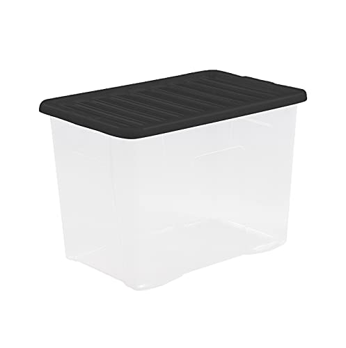 WHATMORE CRYSTAL 80L BOX & LID CLEAR 11315 by Whatmore