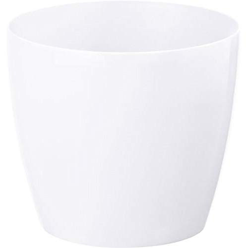 YouGarden Glossy Pearl-White Cachepot 21cm Pot Cover Planter