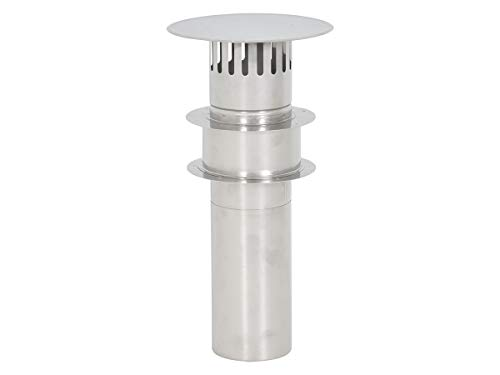 Thermo Products DDV130 Stainless Steel Flue Set DDV 130 mm with roof Gland, fits The TTulpe Indoor B-14 THEFLU006