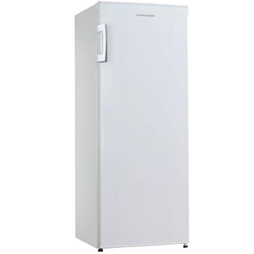 Cookology CTFZ160WH Tall Freestanding Upright Freezer in White | 55x142cm Metal Back