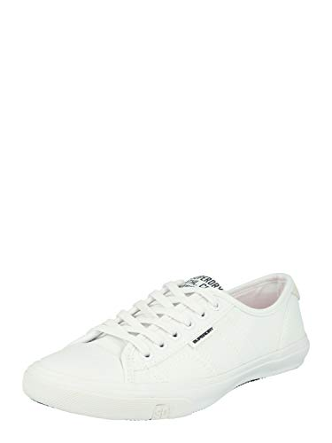 Superdry Women's Pro Low-Top Sneakers, White (Optic White 26c), 5 UK