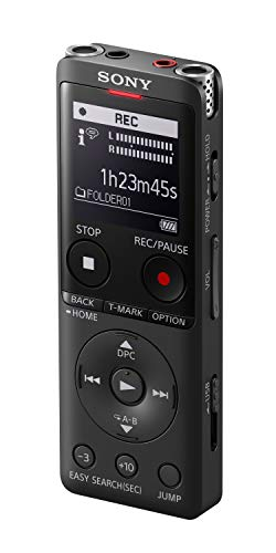 Sony Icd-UX570 MP3/LPCM Digital Voice Recorder (Dictaphone) with Built-In USB, 4GB, OLED Screen - Black