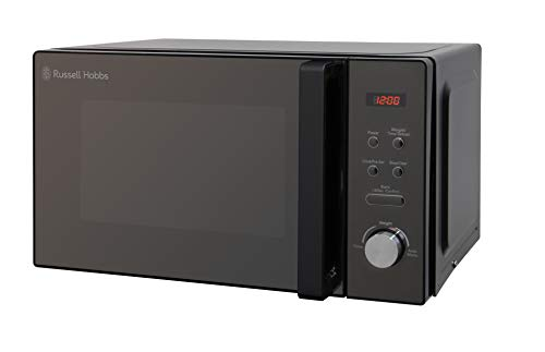Russell Hobbs RHM2076B 20 Litre 800 W Black Digital Solo Microwave with 5 Power Levels, Automatic Defrost, 8 Auto Cook Menus, Clock & Timer, Easy Clean