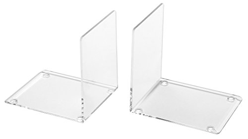 OSCO Clear Acrylic Very Small Bookends, ABE-2