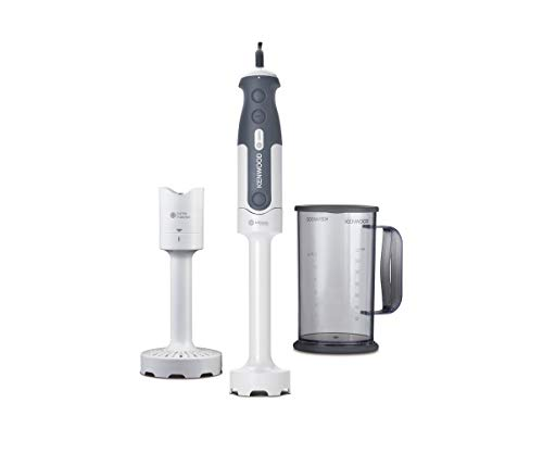 Kenwood Triblade System Hand Blender, Mixer with Anti-splash, Masher Attachment and 0.75 Litre BPA-free Plastic Beaker, HDP300WH, White
