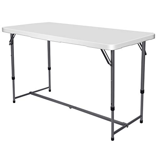Nestling® Folding Table 4FT 1.2M Camping Catering Heavy Duty Folding Trestle Table For BBQ Picnic Party With Carrying Handle