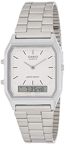 Casio Collection AQ-230A-7DMQYES Mens Watch, Off-White