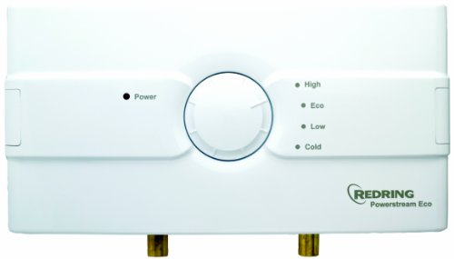 Redring 45673201 Powerstream Eco Unvented Instantaneous Water Heater, 9.5kW, White