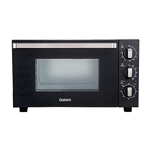 Galanz 30L Oven Combination with 1500W Grill & Convection, Compact Manual Oven with Rotisserie Function MOUK001B Black