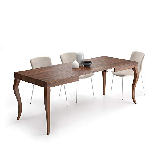 Mobili Fiver, Extendable Dining Table Classico, Walnut, Laminate-finished, Made in Italy