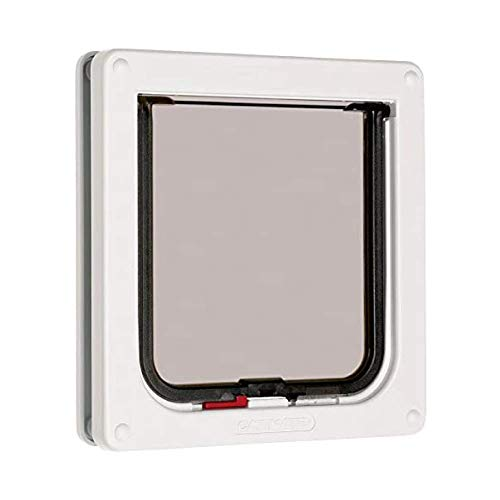 Cat Mate Lockable Cat Flap, Easy Fitting, Fast Installation, Extremely Durable, Tamper Proof, Draught Excluder, Weatherproof, Convenient, Silent - White