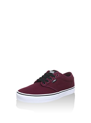 Vans Men's Atwood Trainers, Canvas Oxblood White, 11 UK
