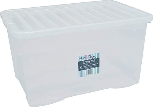 Wham Plastic Storage Boxes - Pack Of 5 (60 Litre)