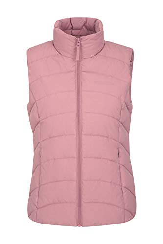 Mountain Warehouse Opal Womens Padded Gilet - Lightweight Ladies Body Warmer, Water Resistant Sleeveless Jacket - Suitable for Light Rain, Winter Pale Pink 18