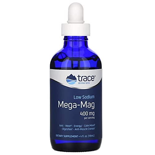 trace minerals Mega-Mag, Natural Ionic Magnesium with Trace Minerals, 400 mg, 118 ml
