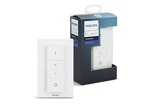 Philips Hue Smart Wireless Dimmer Switch V1 (Installation Exclusive for Philips Hue Lights). Works with Alexa, Google Assistant and Apple HomeKit