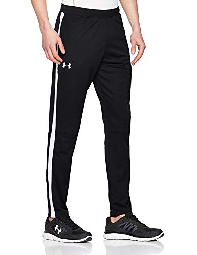 Under Armour Men's Sportstyle Pique Track Light and Quick-Drying Tracksuit Bottoms, Comfortable Joggers for Workouts and Sport, Black/White, 2XL