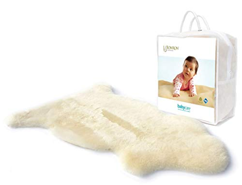 Bowron Baby Lambskin Comforter | Shorn Baby Sheepskin | 80-100 cm x 48 cm | Use at Home or in The pram |
