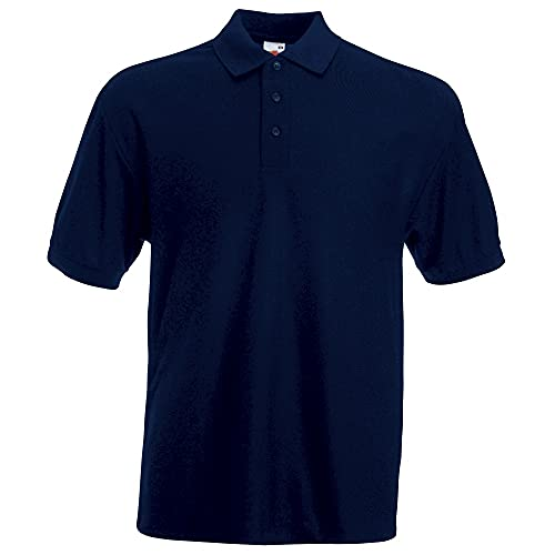 Fruit of the Loom Men's 65/35 Polo Shirt, Deep Navy, Large