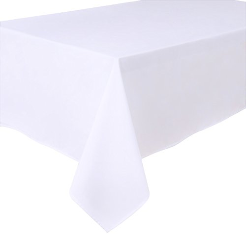 HomeDirectIE Extra Large Easy-Care Quality Rectangular Fabric Tablecloth Table Cover 140x240cm 55