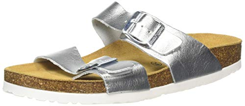 Hush Puppies Women Kylie Mules, Silver Silver Silver, 7 UK