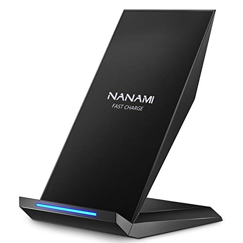 NANAMI Wireless Charger, 10W Qi Fast Wireless Charging Stand for Samsung S21 S20 S10 S10+ S9 S9+ S8 S8+ S7 S6 Edge+ Galaxy Note 10/9/8, 7.5W Fast Charge for iPhone 12/11/11 Pro/X/XS/XR/XS Max/8/8 Plus