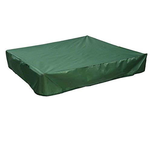 Sandpit Cover, Green Waterproof Dustproof UV Protection Square Pool Cover with Drawstring for Sandpit, Toys and Furniture, Sandbox Cover