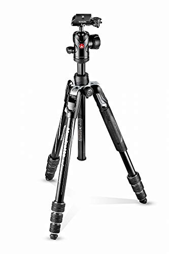 Manfrotto Befree Advanced Camera Tripod Kit with Twist Closure, Travel Tripod Kit with Ball Head, Portable and Compact, Camera Tripod in Aluminium for DSLR, Reflex, Mirrorless, Camera Accessories