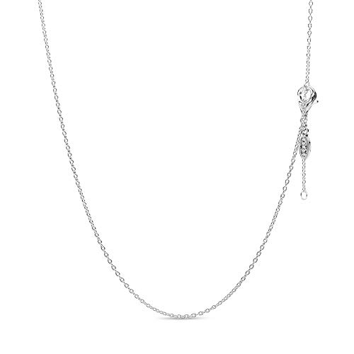 Pandora Moments Women's Sterling Silver Classic Chain Necklace, 45cm