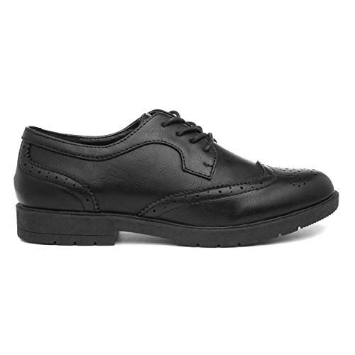 Lilley Womens Brogue Lace Up Shoe in Black - Size 6 UK - Black