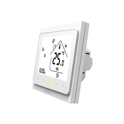 MOES Smart Thermostat WiFi Temperature Controller Smart Life APP Remote Control for Electric Heating Compatible with Alexa Google Home 16A