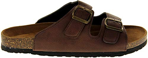 Dunlop Womens Synthetic Leather Strappy Lightweight Casual Summer Beach Pool Sandals Brown UK 6
