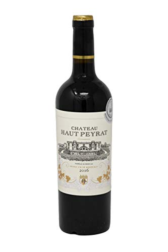 Wines Chateau Haut Peyrat Bordeaux Superior Red Wine - Premium French Wine With Red & Black Fruit - Award Winning Wine Made Of Merlot, Cabernet Franc & Cabernet Sauvignon - 75cl, 13.5% ABV