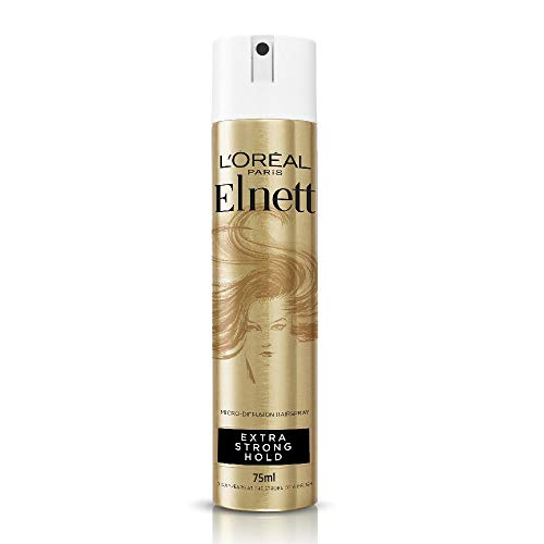 L'Oreal Hairspray by Elnett for Extra Strong Hold & Shine, 75 ml