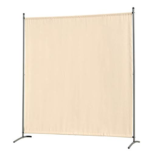 Angel Living Protective Screens Folding Screen Room Divider Screens Room Partitions Garden Privacy Outdoor Screens for Patio Privacy, 1 Panels (163 x 180cm, Beige)