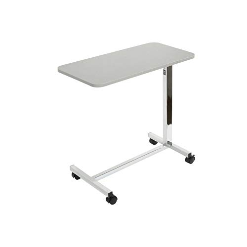 Teqler Height Adjustable Bed Table, Side Table for Hospital and Nursing Beds