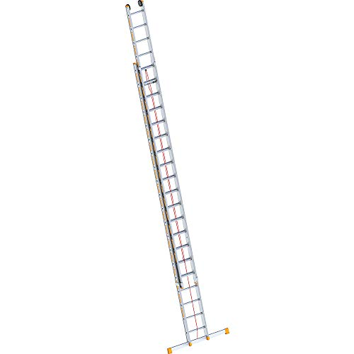 Layher 1037020Rope-Operated Ladder Topic Two Section Extension Ladder 20Rungs Aluminium Length 10.15M