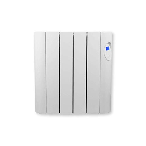 FUTURA 600W Oil Filled Electric Radiator Panel Heater 24/7 Day Timer Lot 20 Wall Mounted Low Energy Retention Electric Heater for home Slimline Efficient Convector Heater Digital thermostat (600W)