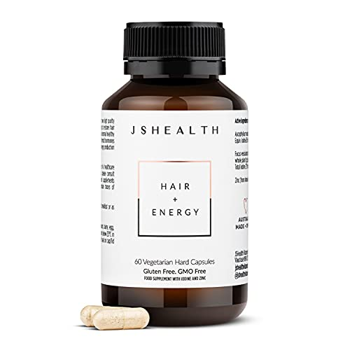 JSHealth Vitamins Hair and Energy Formula | Hair Vitamins for Women and Men | Iodine and Zinc Supplement for Hair Growth | Hair Supplement | Hair Loss Products (60)