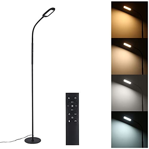 Tomshin-e Led Floor Lamp Remote & Touching Control 4 Colour Temperatures with Stepless Dimmable for Bedroom Living Room Office