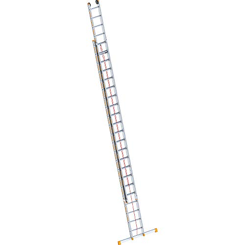 Layher 1037022Rope-Operated Ladder Topic Two Section Extension Ladder 22Rungs Aluminium Length 11.30M