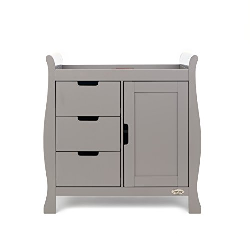 Obaby Stamford Sleigh Changing Unit, Taupe Grey