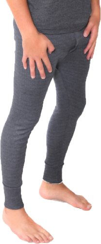 Britwear Mens Thermal Long Johns/Pants/Bottoms Colour: Dark Grey/Charcoal Size: Extra Large (XL)