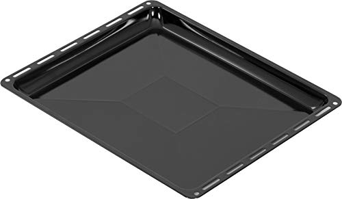 ICQN 455 x 375 x 30 mm Baking Tray Suitable for Bosch Siemens Neff Constructa Enamelled Grease Pan for Oven Scratch-Resistant 45.5 x 37.5 cm