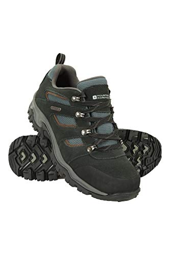 Mountain Warehouse Voyage Mens Waterproof Shoes - Lightweight Hiking Boots, Fast Dry Walking Boots, Eva Midsole, Mesh, Rubber Outsole Running Shoes - for Travelling Black 9 UK