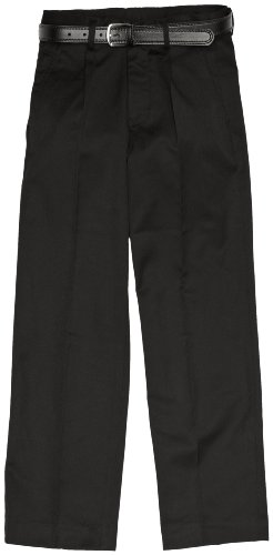 Blue Max Banner Men's Plymouth Pleated With Fly Trousers, Black, W36/L30