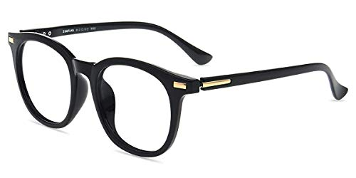 Firmoo Blue Light Blocking Glasses for Women and Men, Black Square Frames Blue Light Glasses for Computer Glare, Reduce Eye-Strain, Help with Headaches